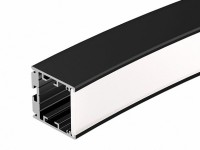 Профиль SL-ARC-3535-D1500-N90 BLACK (1180мм, дуга 1 из 4) (ARL, Алюминий)